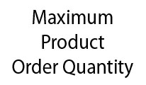 Maximum Product Order Qty