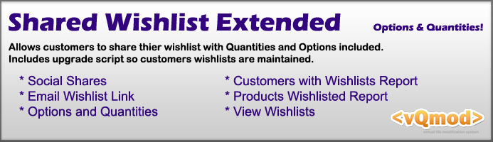 Shared Wishlist Extended